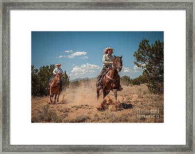 The Chase Framed Print by Sherry Davis