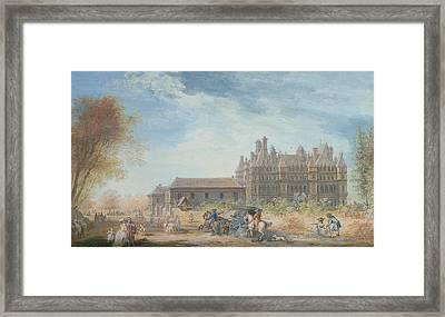 The Chateau De Madrid Framed Print by Louis-Nicolas de Lespinasse