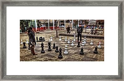 The Chess Match In Pdx Framed Print by Thom Zehrfeld
