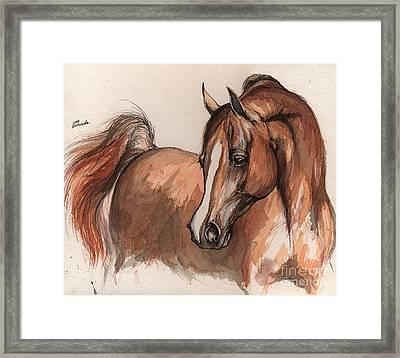 The Chestnut Arabian Horse 6 Framed Print by Angel  Tarantella