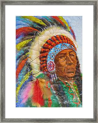 The Chief Framed Print by Mohamed Hirji