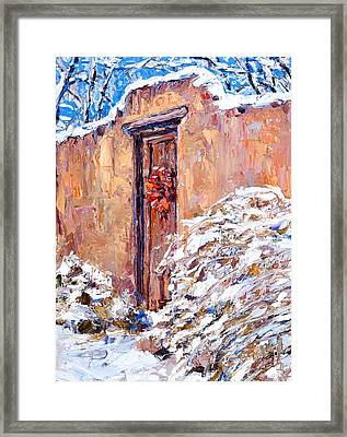 The Chili Wreath Framed Print by Steven Boone