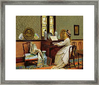 The Chorale Framed Print by John Atkinson Grimshaw