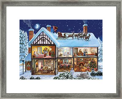 Christmas House Framed Print by Steve Crisp