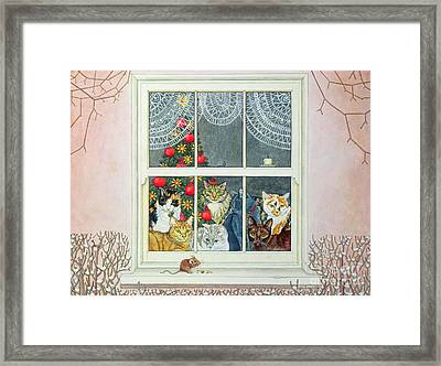 The Christmas Mouse Framed Print by Ditz