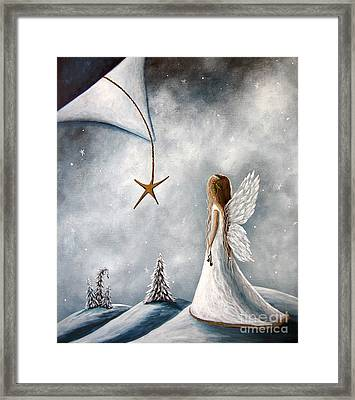 The Christmas Star Original Artwork Framed Print by Shawna Erback
