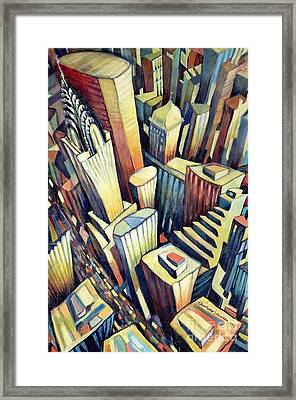 The Chrysler Building Framed Print by Charlotte Johnson Wahl