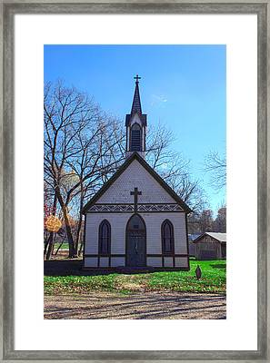 The Church At Billie Creek Framed Print by Thomas Sellberg