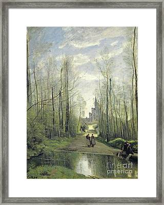The Church At Marissel Framed Print by Jean Baptiste Camille Corot