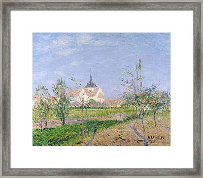 The Church At Vaudreuil Framed Print by Gustave Loiseau