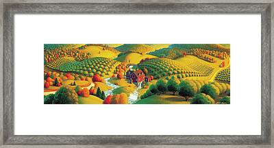 The Cider Mill Framed Print by Robin Moline