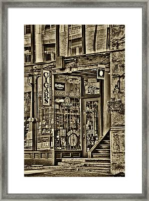 The Cigar Store In Seattle Washington Framed Print by David Patterson