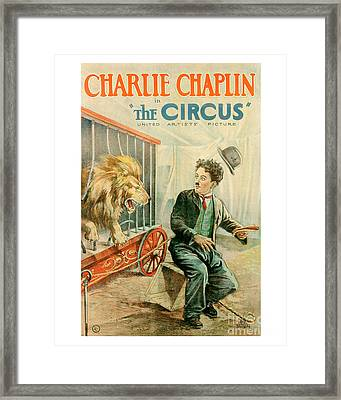 The Circus Charlie Chaplin Movie Poster Framed Print by MMG Archive Prints