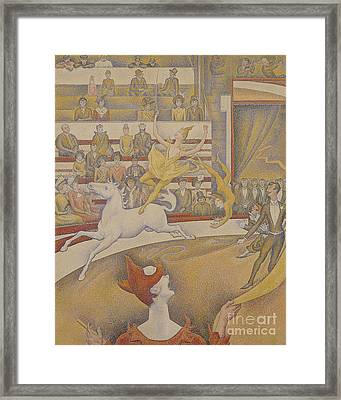 The Circus Framed Print by Georges Pierre Seurat