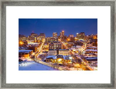 The City Electric - Portland Maine Framed Print by Benjamin Williamson