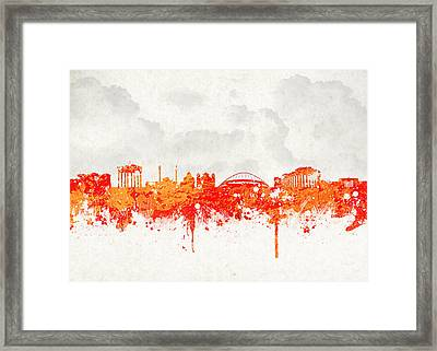 The City Of Athens Greece Framed Print by Aged Pixel