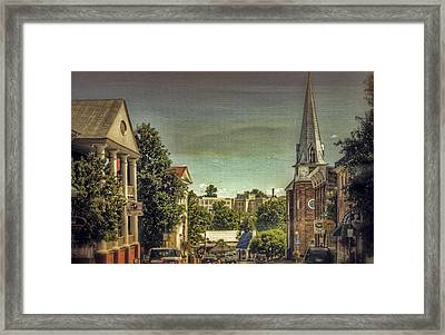 The City Of Lexington Virginia Framed Print by Kathy Jennings