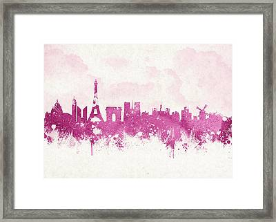 The City Of Love Framed Print by Aged Pixel