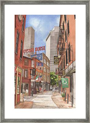 The City On A Hill Framed Print by Josh Marks