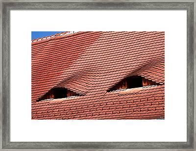The City's Eyes Sibiu Hermannstadt Romania Framed Print by Daliana Pacuraru
