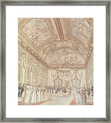 The Civil Ceremony Of The Marriage Of Napoleon Bonaparte 1769-1821 And Marie-louise 1791-1847 Framed Print by C Percier