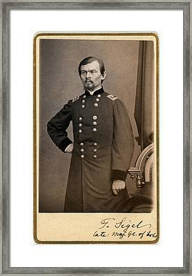 The Civil War. Major General Franz Framed Print by Everett