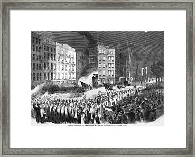 The Civil War, Republican Party Rally Framed Print by Everett