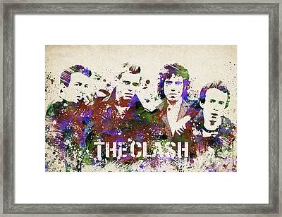 The Clash Portrait Framed Print by Aged Pixel