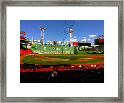 The Classic  Fenway Park Framed Print by Iconic Images Art Gallery David Pucciarelli