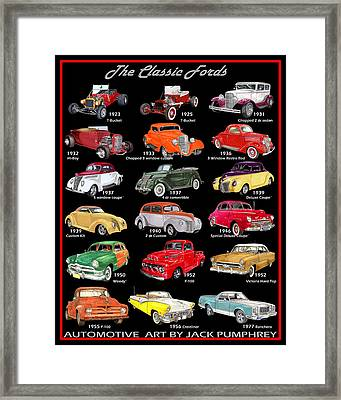 The Ford Poster Framed Print by Jack Pumphrey