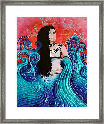 The Cleansing Framed Print by Ohso Faboolus