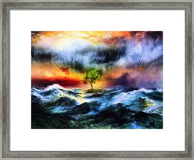 The Clearing Of The Flood Framed Print by Georgiana Romanovna