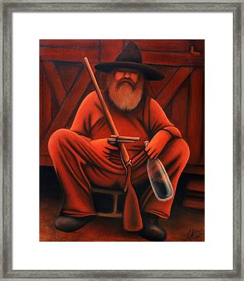 The Cliche Hillbilly Framed Print by Chris  Hill