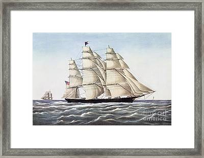 The Clipper Ship Flying Cloud Framed Print by Anonymous