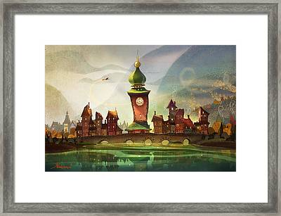 The Clock Tower Framed Print by Kristina Vardazaryan