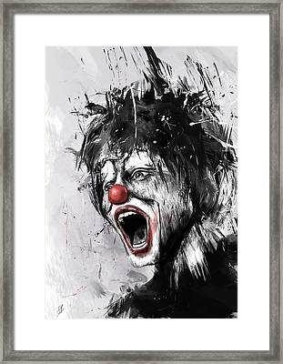 The Clown Framed Print by Balazs Solti