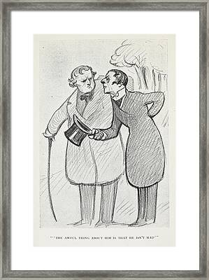 The Club Of Queer Trades Framed Print by British Library