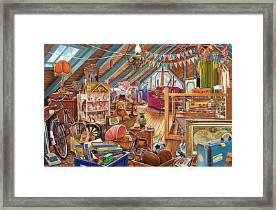 The Cluttered Attic  Framed Print by Steve Crisp