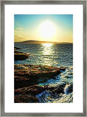 The Coast Of Maine Framed Print by Olivier Le Queinec