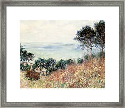 The Coast Of Varengeville Framed Print by Claude Monet