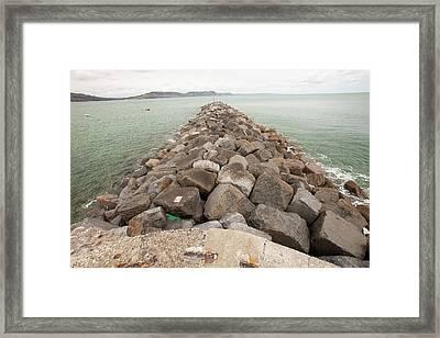 The Cob At Lyme Regis Framed Print by Ashley Cooper