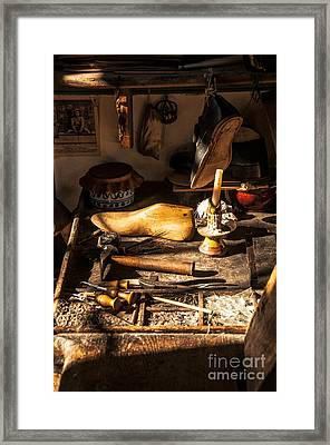 The Cobbler's Shop Framed Print by Terry Rowe
