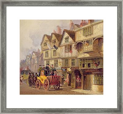 The Cock Tavern Framed Print by Albert Joseph Moore