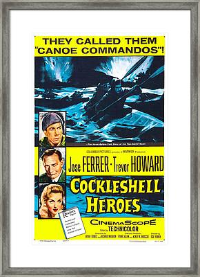 The Cockleshell Heroes, Us Poster, Left Framed Print by Everett
