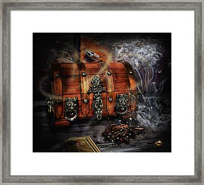 The Coffer Of Spells Framed Print by Alessandro Della Pietra