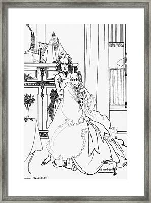 The Coiffing Framed Print by Aubrey Beardsley