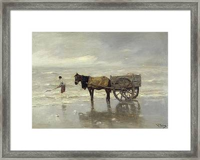 The Collection At Goemon Oil On Canvas Framed Print by Anton Mauve