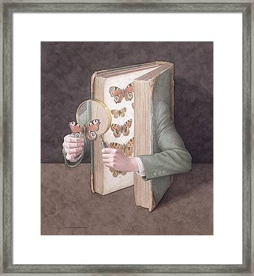 The Collector, 2005 Wc On Paper Framed Print by Jonathan Wolstenholme