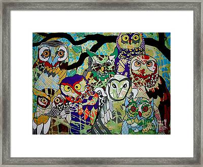 The Color Of Owls Framed Print by Amy Sorrell