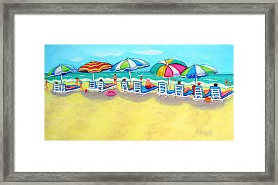 The Color Of Summer  Framed Print by Rebecca Korpita
